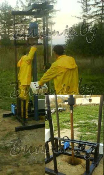 Лычко мини буровая установка водо снабжение.